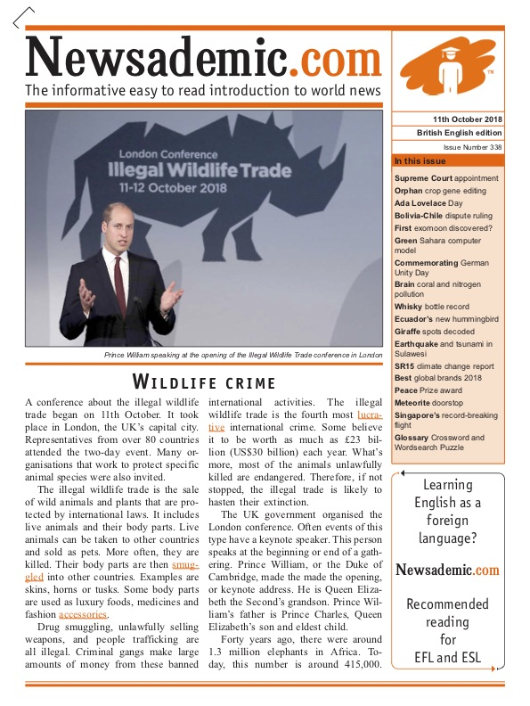 Newsademic Issue 338 Front Cover Wildlife Crime The Illegal Trade in Wildlife