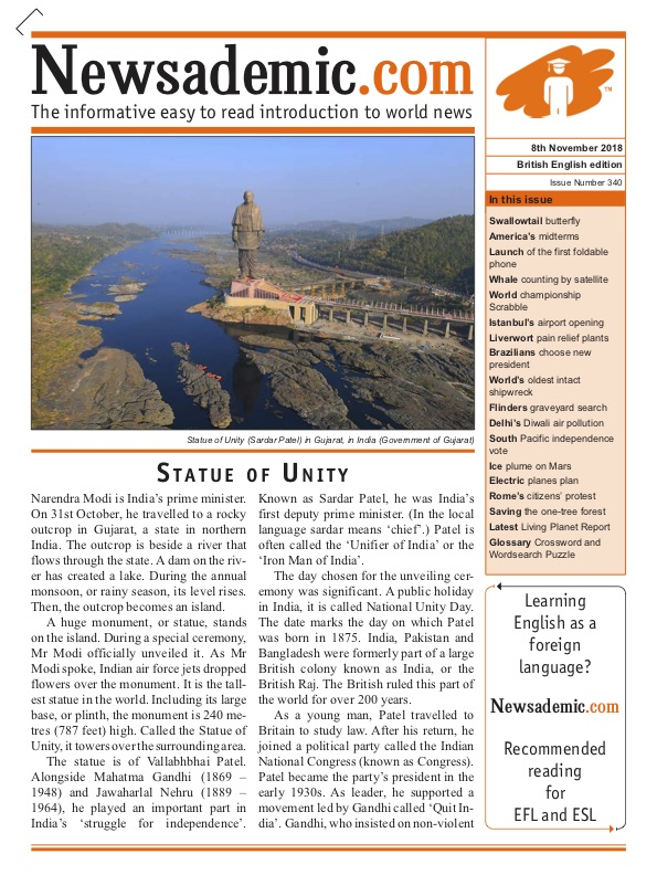 Newsademic Issue 340 front cover Sardar Patel world's tallest statue