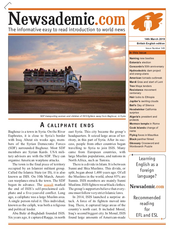 Newsademic Issue 349 Front Cover A Caliphate Ends