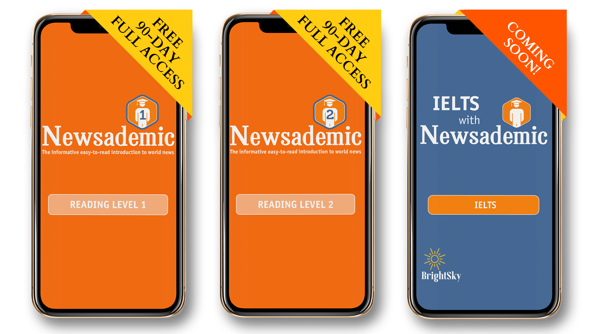 Newsademic Apps available at 3 levels