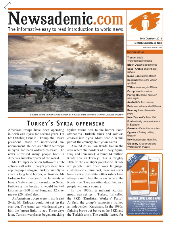 Newsademic Issue 364 Front Cover Turkey's Syria Offensive