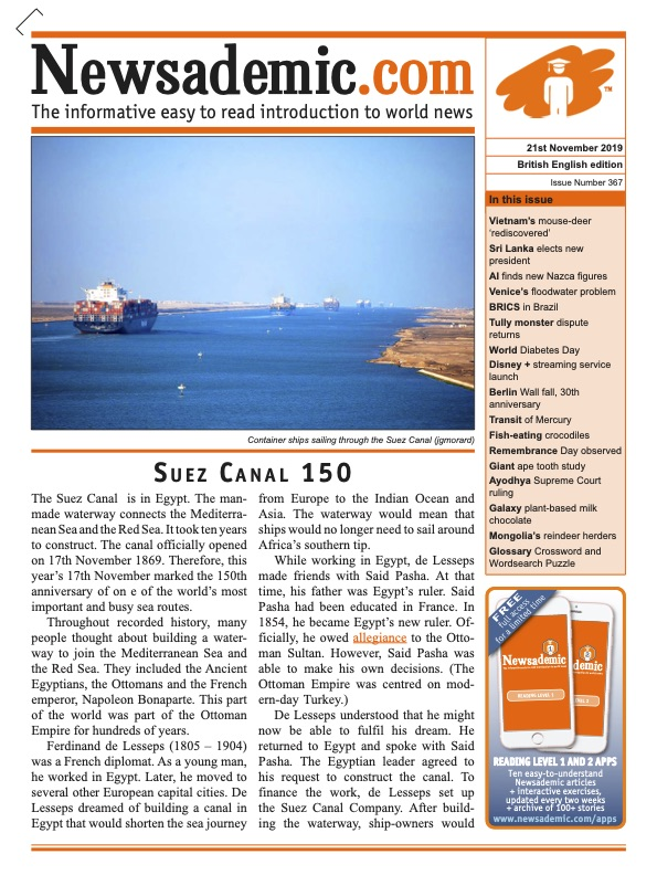 Newsademic Issue 367 Suez Canal 150