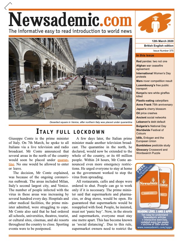 Newsademic Issue 374 Front Cover Covid-19 Corona Virus Outbreak Spreads